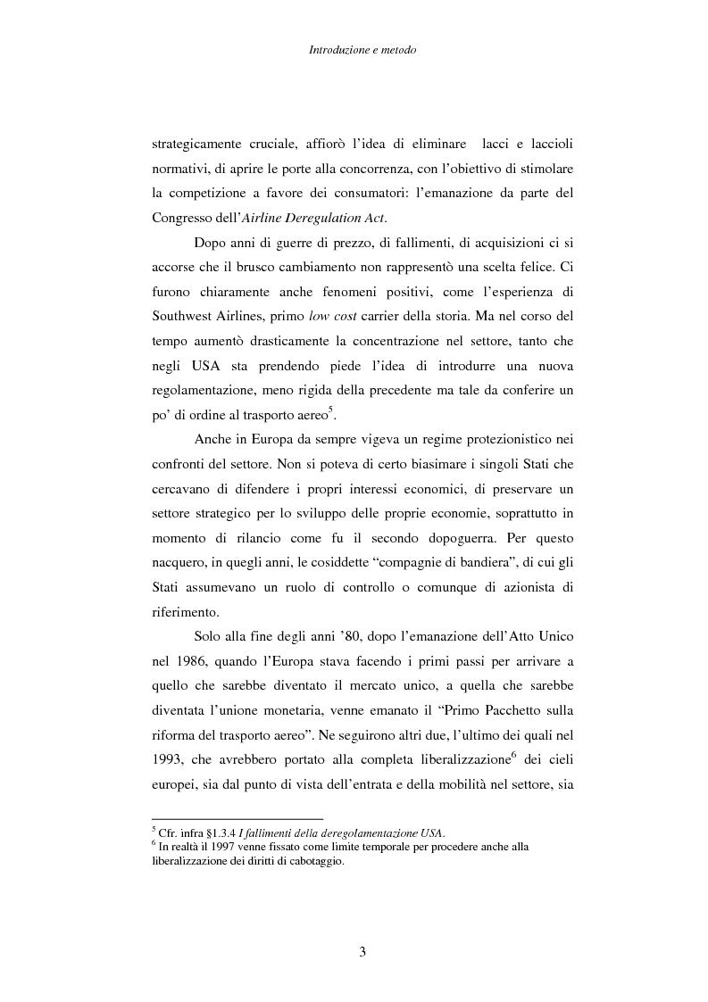 Anteprima della tesi: Strategie e performance delle compagnie aeree low cost. I casi Ryanair, Easyjet e Virgin Express., Pagina 3