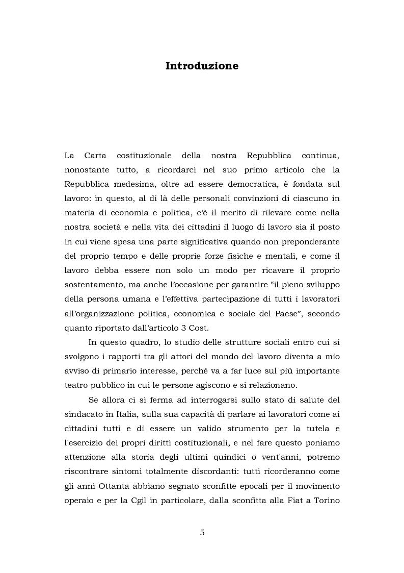 Anteprima della tesi: Comunicazione e rappresentanza nel sindacato. I rapporti con il lavoro, la società, i media. L'esperienza di Nidil - Cgil., Pagina 1