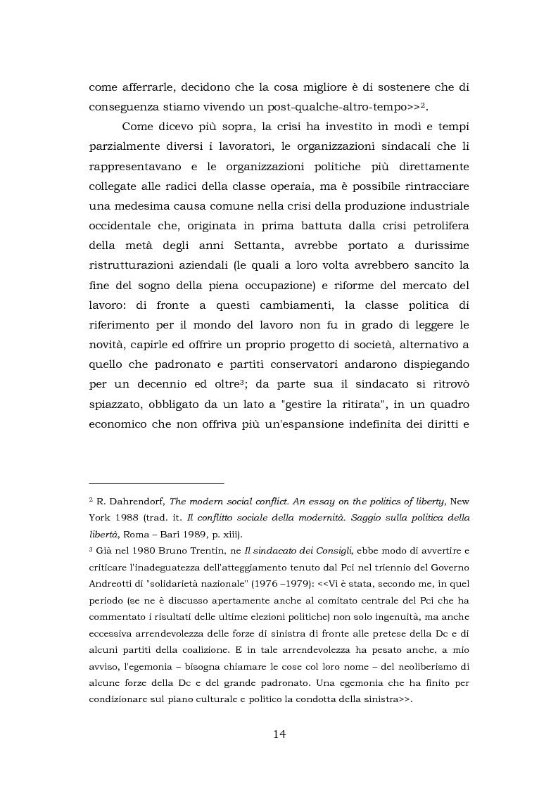 Anteprima della tesi: Comunicazione e rappresentanza nel sindacato. I rapporti con il lavoro, la società, i media. L'esperienza di Nidil - Cgil., Pagina 10