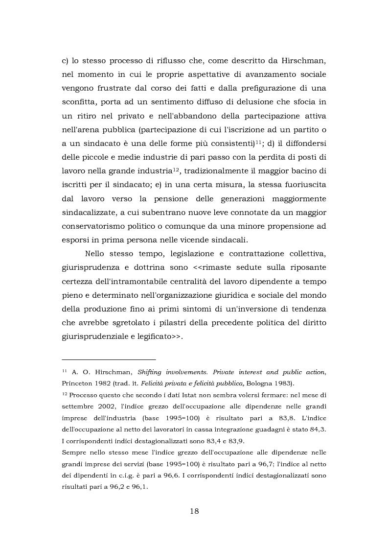 Anteprima della tesi: Comunicazione e rappresentanza nel sindacato. I rapporti con il lavoro, la società, i media. L'esperienza di Nidil - Cgil., Pagina 14