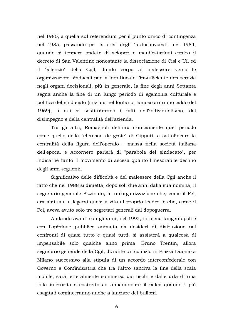 Anteprima della tesi: Comunicazione e rappresentanza nel sindacato. I rapporti con il lavoro, la società, i media. L'esperienza di Nidil - Cgil., Pagina 2