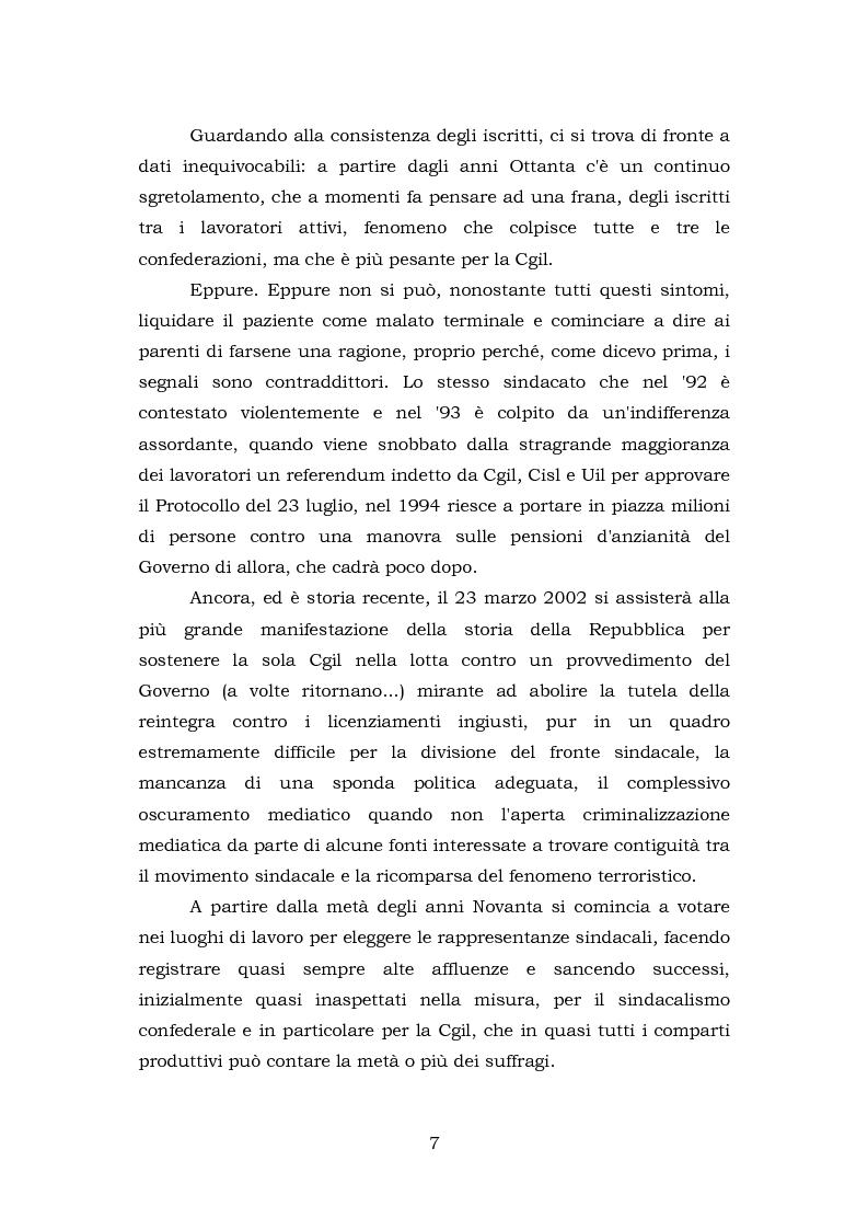 Anteprima della tesi: Comunicazione e rappresentanza nel sindacato. I rapporti con il lavoro, la società, i media. L'esperienza di Nidil - Cgil., Pagina 3