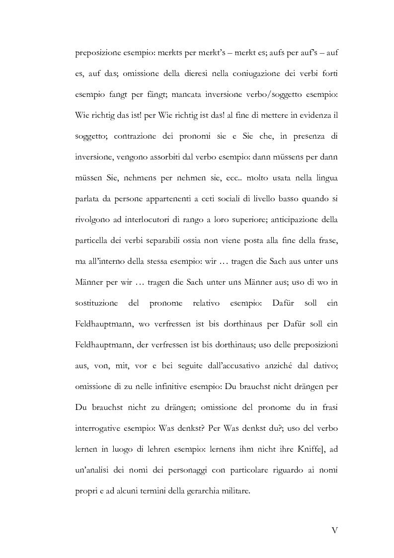 Anteprima della tesi: Alcuni aspetti delle traduzioni italiane di Mutter Courage und ihre Kinder di Bertolt Brecht, Pagina 5