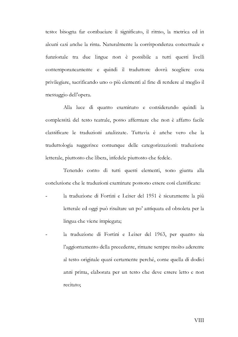 Anteprima della tesi: Alcuni aspetti delle traduzioni italiane di Mutter Courage und ihre Kinder di Bertolt Brecht, Pagina 8