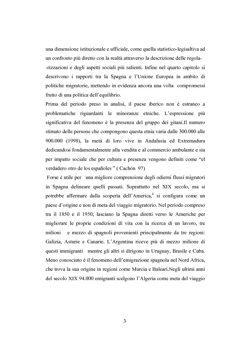 Anteprima della tesi: Osservazioni sul fenomeno dell'immigrazione in Spagna, con riferimento al periodo 1992-2002, Pagina 3