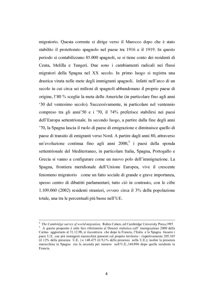 Anteprima della tesi: Osservazioni sul fenomeno dell'immigrazione in Spagna, con riferimento al periodo 1992-2002, Pagina 4
