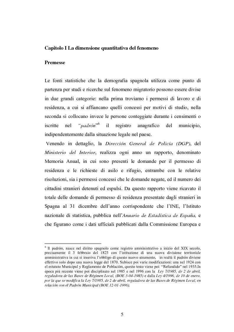 Anteprima della tesi: Osservazioni sul fenomeno dell'immigrazione in Spagna, con riferimento al periodo 1992-2002, Pagina 5