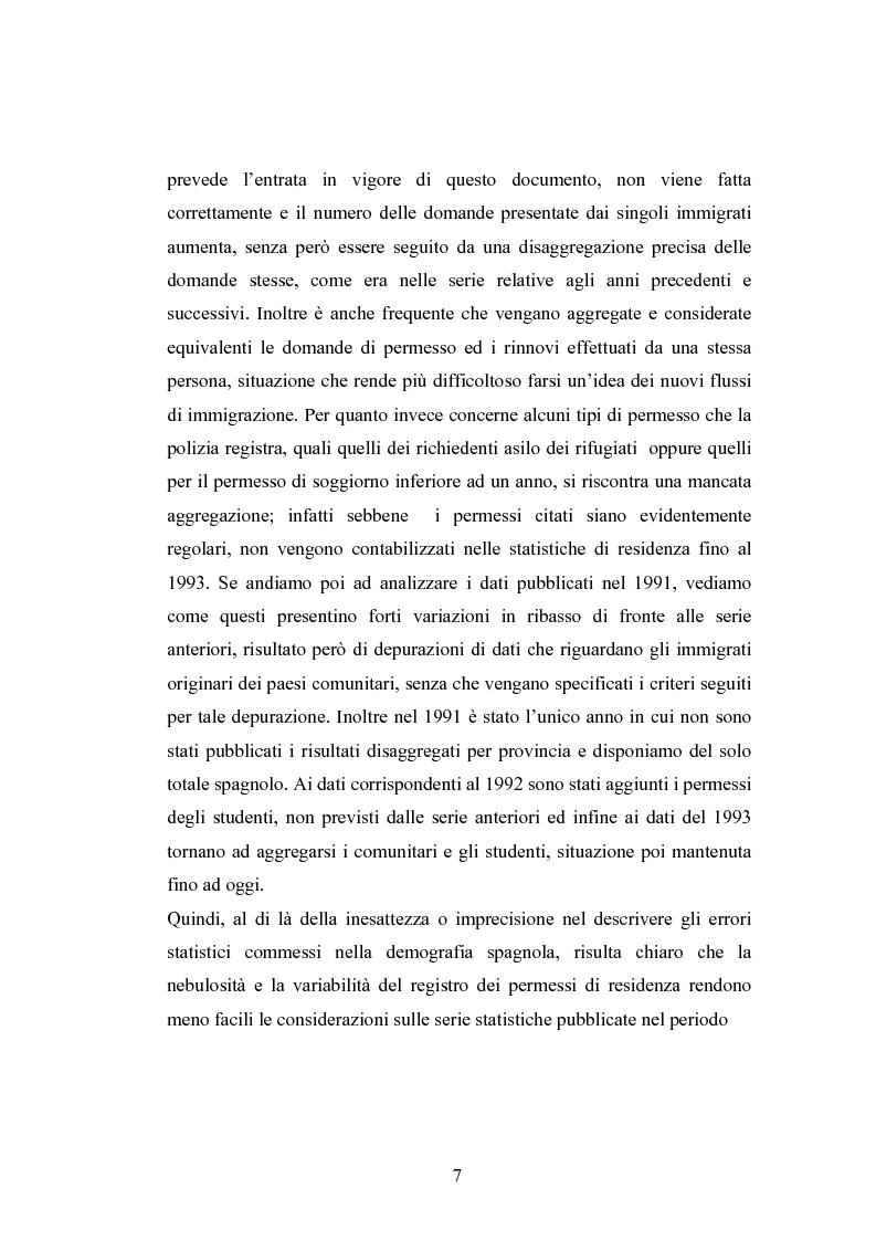Anteprima della tesi: Osservazioni sul fenomeno dell'immigrazione in Spagna, con riferimento al periodo 1992-2002, Pagina 7