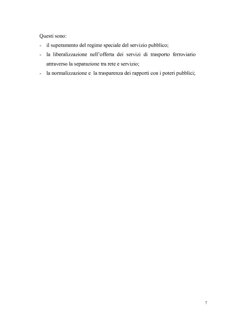 Anteprima della tesi: Concorrenza e regolazione nel trasporto ferroviario passeggeri: il difficile cammino delle riforme, Pagina 4