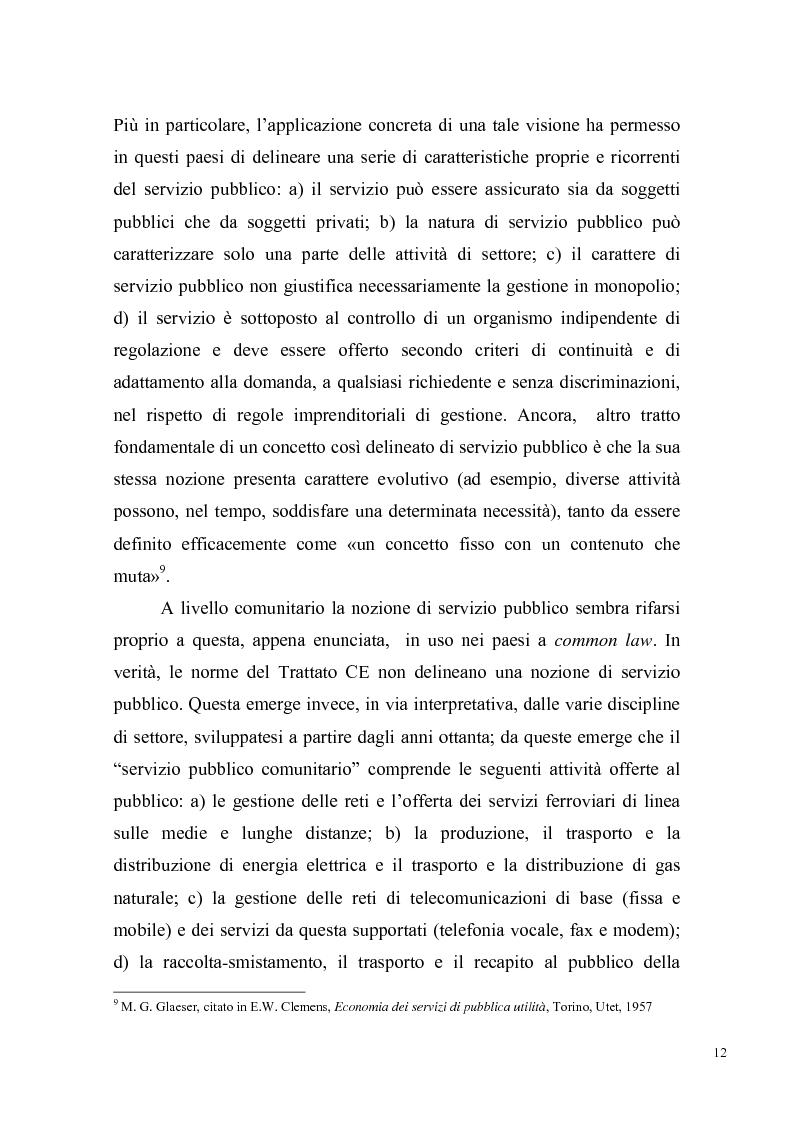 Anteprima della tesi: Concorrenza e regolazione nel trasporto ferroviario passeggeri: il difficile cammino delle riforme, Pagina 9