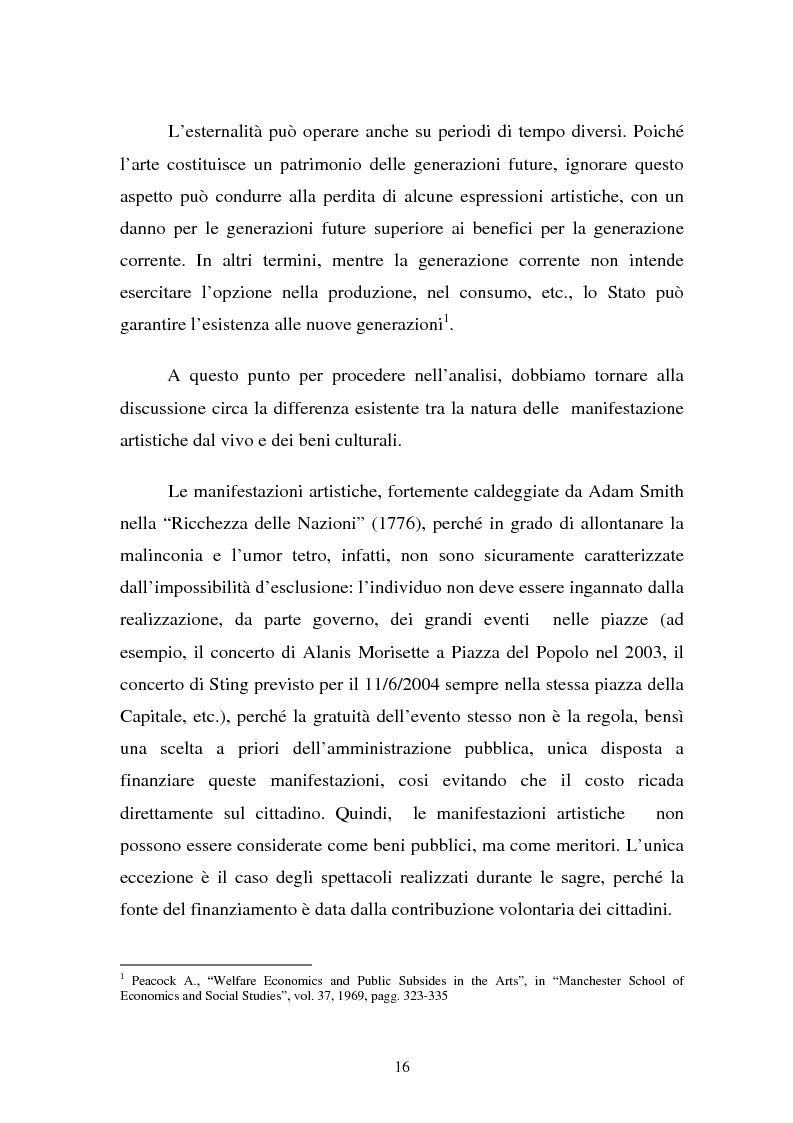 Anteprima della tesi: La Valutazione Economica dei Beni Culturali, Pagina 11