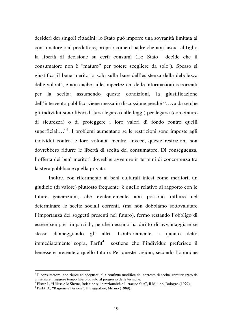 Anteprima della tesi: La Valutazione Economica dei Beni Culturali, Pagina 14
