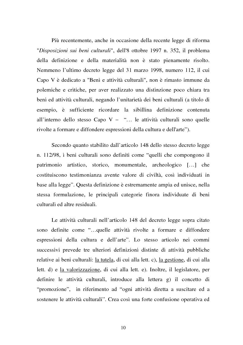 Anteprima della tesi: La Valutazione Economica dei Beni Culturali, Pagina 5