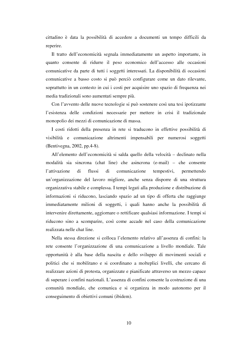Anteprima della tesi: Democrazia e nuove tecnologie: rischi di esclusione e opportunità di partecipazione, Pagina 10