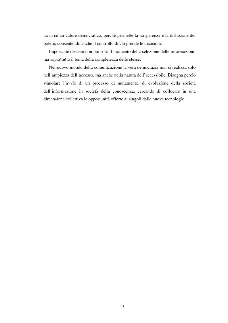 Anteprima della tesi: Democrazia e nuove tecnologie: rischi di esclusione e opportunità di partecipazione, Pagina 15