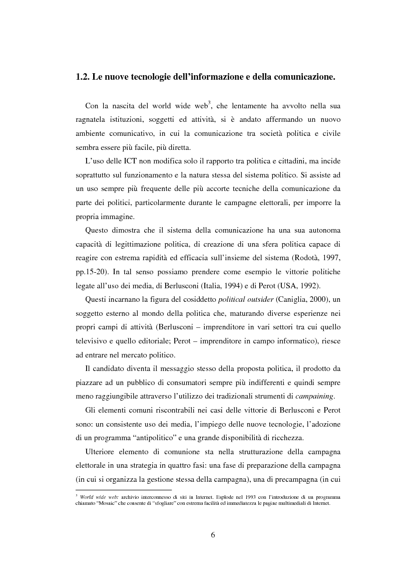 Anteprima della tesi: Democrazia e nuove tecnologie: rischi di esclusione e opportunità di partecipazione, Pagina 6