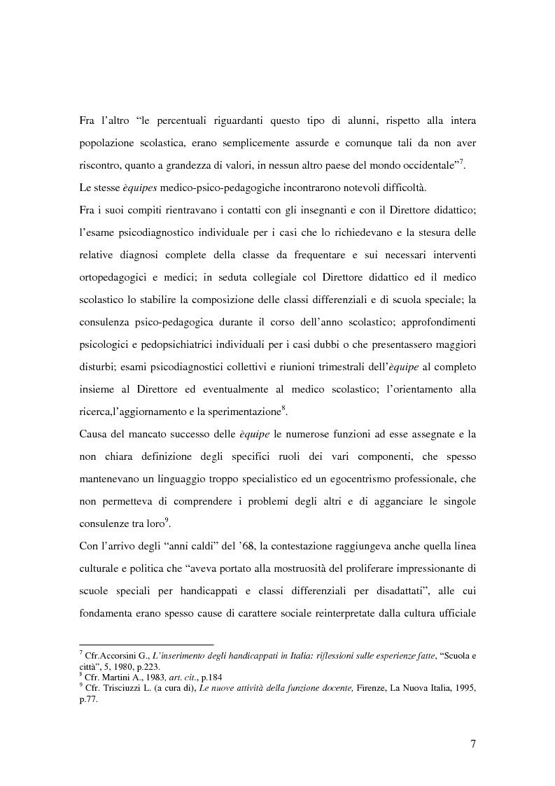 Anteprima della tesi: Quale Operatore psicopedagogico? Dallo Psicopedagogista al Formatore scolastico, Pagina 7
