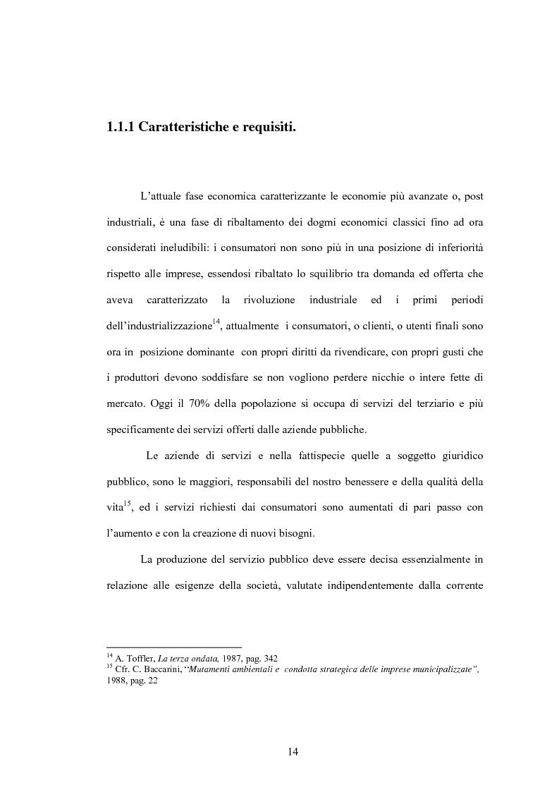 Anteprima della tesi: Aspetti evolutivi della gestione dei servizi di pubblica utilità, Pagina 9