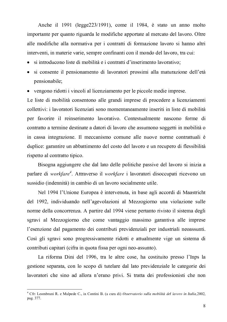 Anteprima della tesi: Politiche di sostegno alla mobilità geografica Sud-Nord, Pagina 7