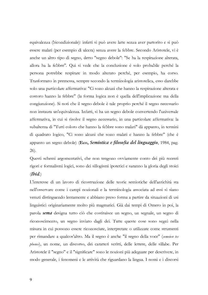 Anteprima della tesi: La teoria della significazione linguistica nel pensiero di Aristotele, Pagina 6