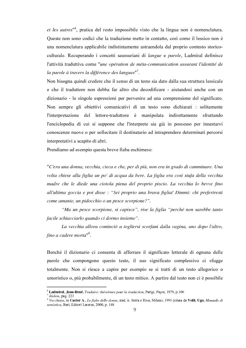 Anteprima della tesi: Traduzione e Abduzione, Pagina 6