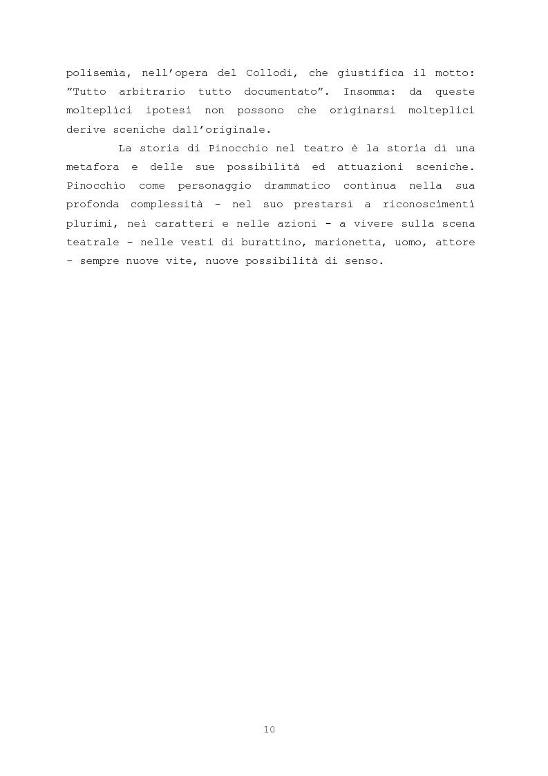 Anteprima della tesi: Pinocchio come personaggio Drammatico, Pagina 10