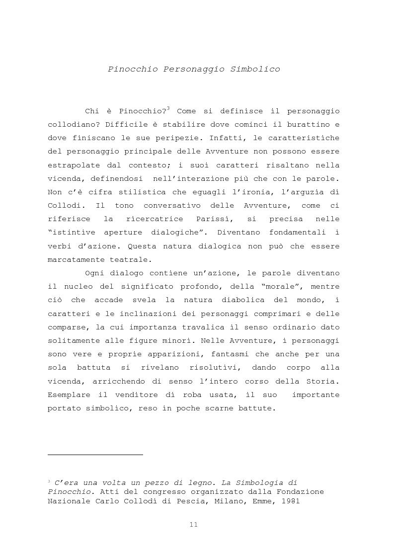 Anteprima della tesi: Pinocchio come personaggio Drammatico, Pagina 11