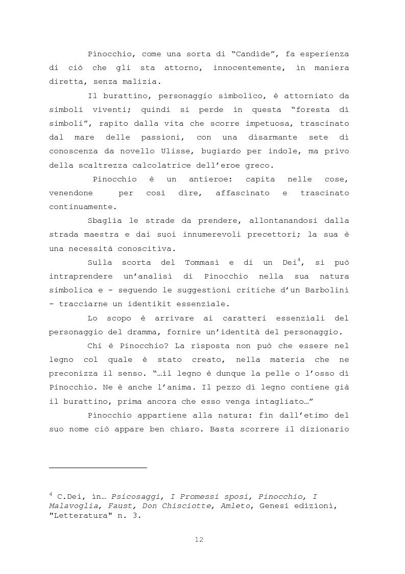 Anteprima della tesi: Pinocchio come personaggio Drammatico, Pagina 12