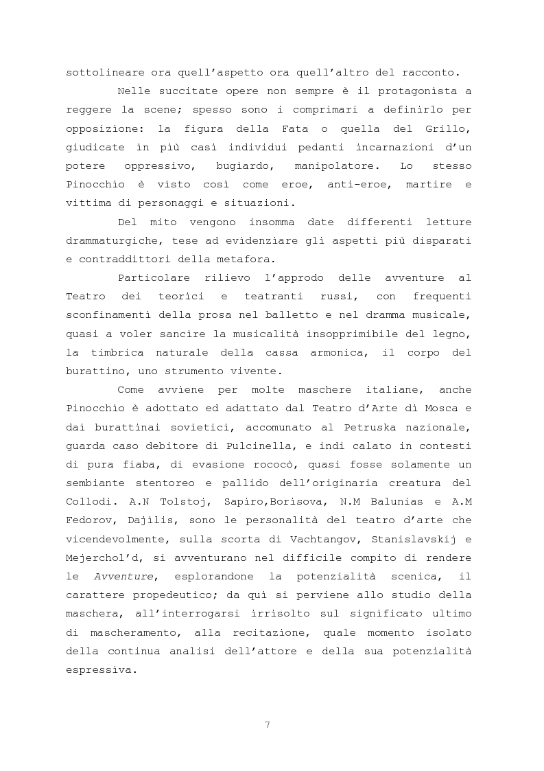 Anteprima della tesi: Pinocchio come personaggio Drammatico, Pagina 7