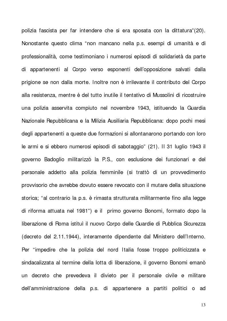 """Anteprima della tesi: In nome del """"dovere"""". Selezione e formazione degli operatori dell'ordine, Pagina 10"""