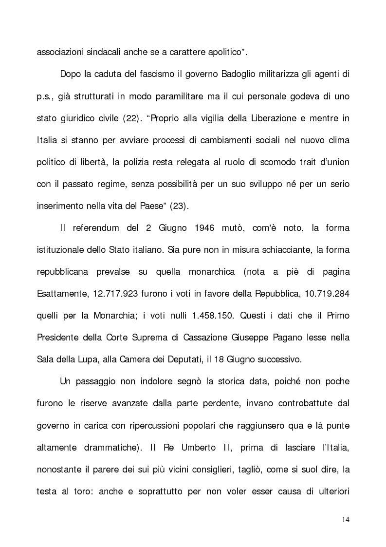 """Anteprima della tesi: In nome del """"dovere"""". Selezione e formazione degli operatori dell'ordine, Pagina 11"""