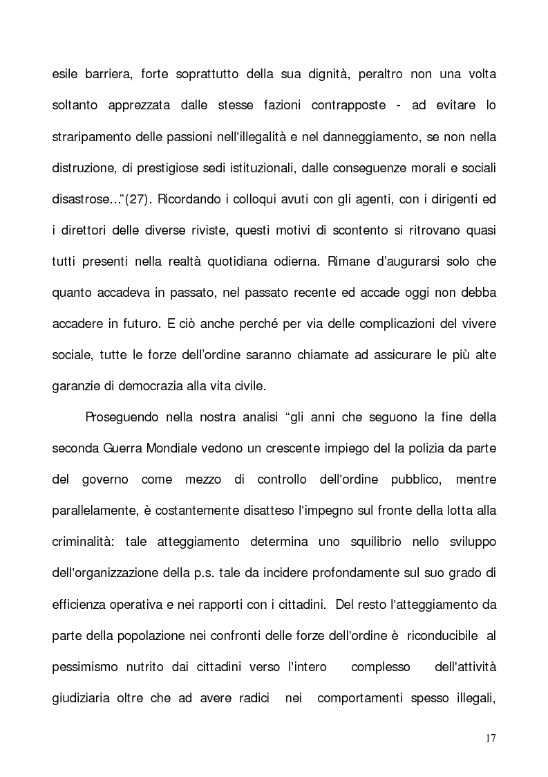 """Anteprima della tesi: In nome del """"dovere"""". Selezione e formazione degli operatori dell'ordine, Pagina 14"""