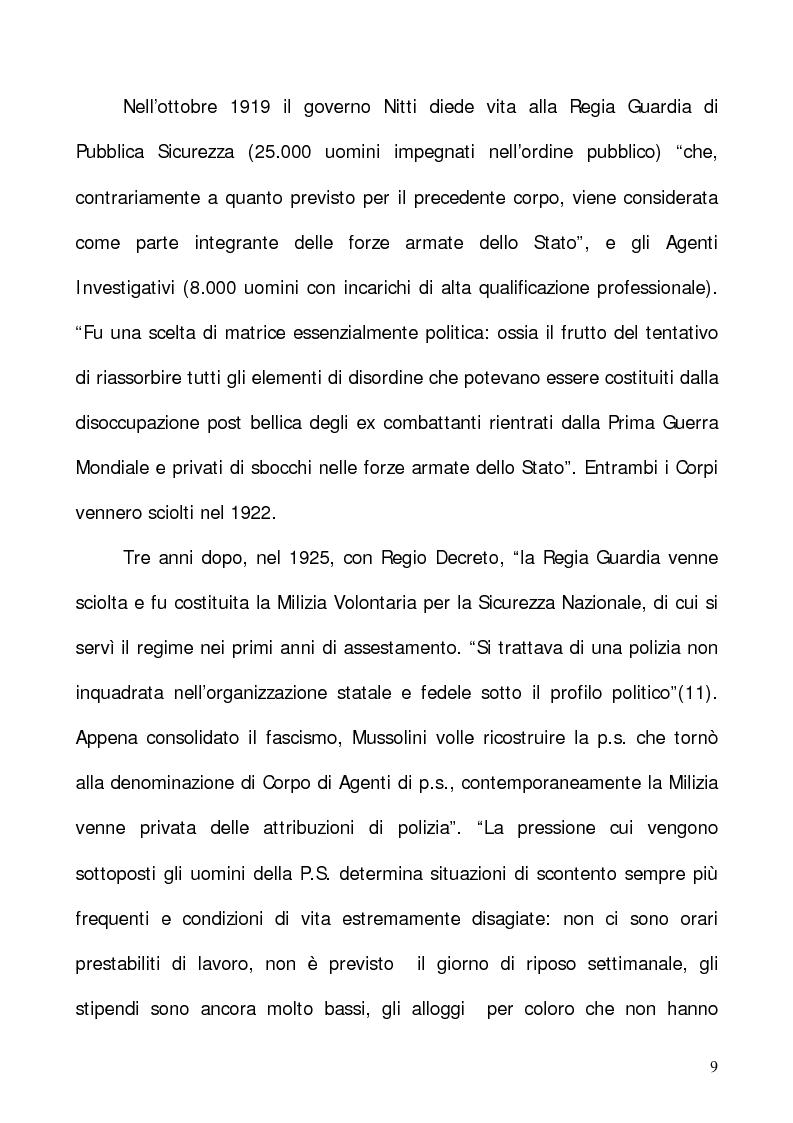 """Anteprima della tesi: In nome del """"dovere"""". Selezione e formazione degli operatori dell'ordine, Pagina 6"""