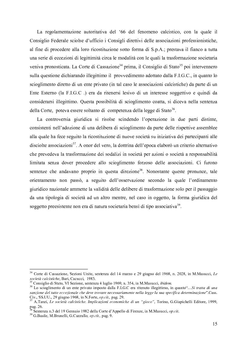 Anteprima della tesi: La crisi economica e finanziaria delle società di calcio professionistiche:analisi ed ipotesi di soluzione, Pagina 12