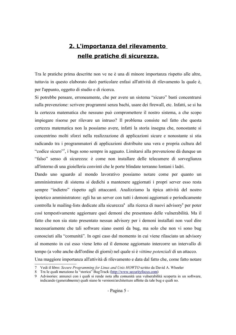 Anteprima della tesi: Progetto ed implementazione di un sistema automatico per la verifica di integrità ed autenticità dei file eseguibili ELF, Pagina 3