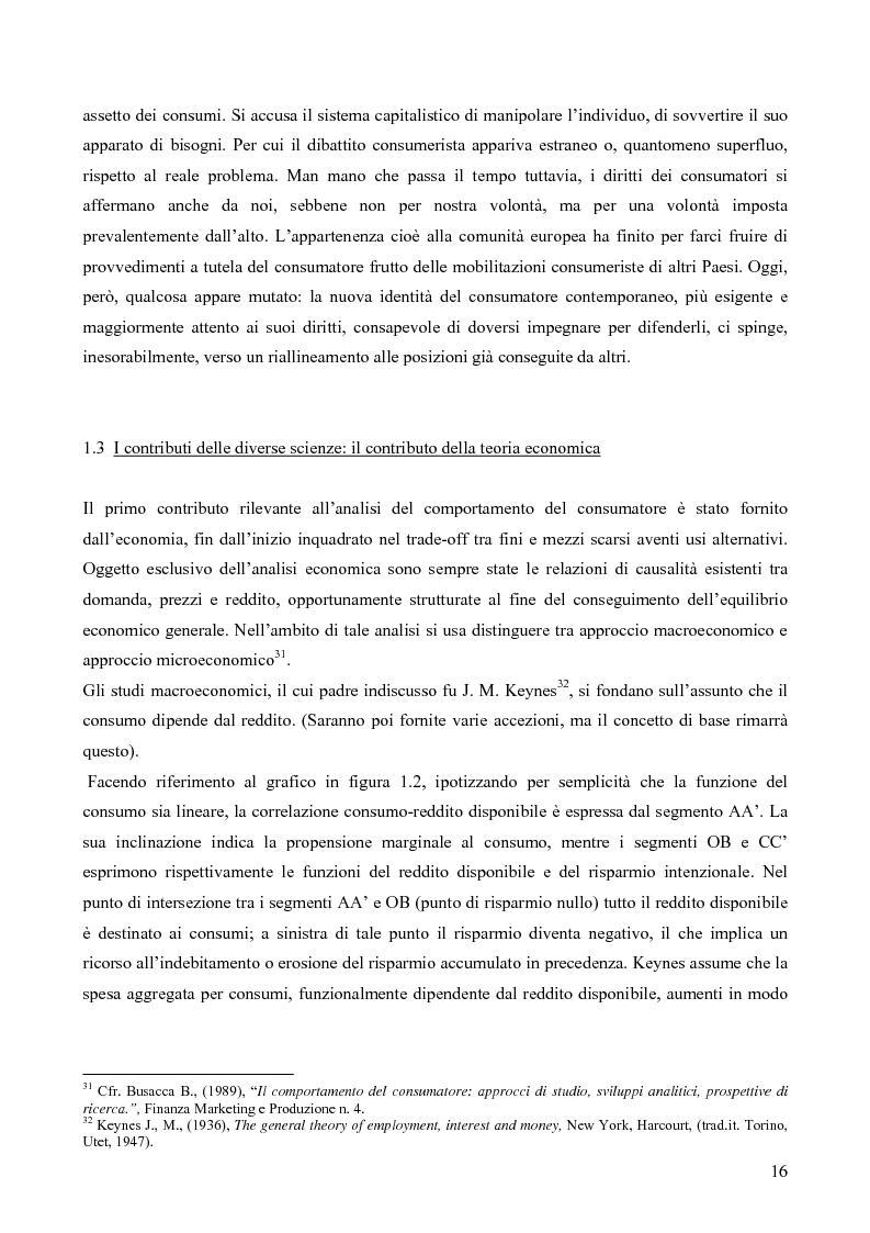 Anteprima della tesi: Il consumatore del servizio commerciale. Fondamenti teorici e prassi d'impresa: il caso Unicoop Tirreno, Pagina 11