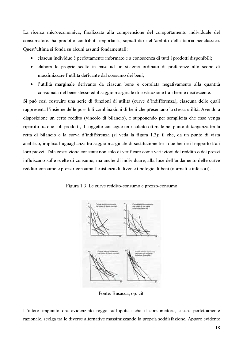 Anteprima della tesi: Il consumatore del servizio commerciale. Fondamenti teorici e prassi d'impresa: il caso Unicoop Tirreno, Pagina 13