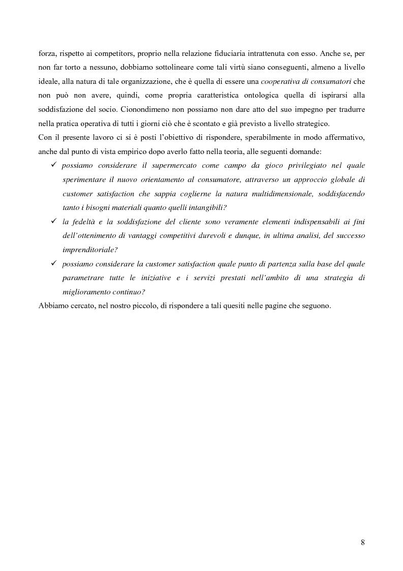 Anteprima della tesi: Il consumatore del servizio commerciale. Fondamenti teorici e prassi d'impresa: il caso Unicoop Tirreno, Pagina 3
