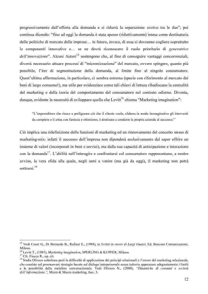 Anteprima della tesi: Il consumatore del servizio commerciale. Fondamenti teorici e prassi d'impresa: il caso Unicoop Tirreno, Pagina 7