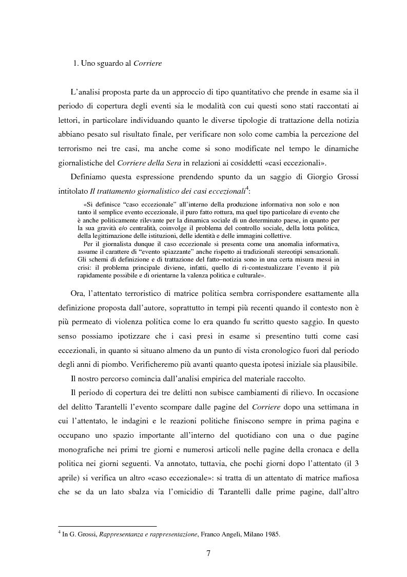 Anteprima della tesi: Le Brigate rosse da Tarantelli a D'Antona sulle pagine del Corriere della Sera, Pagina 4