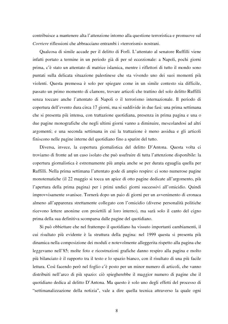 Anteprima della tesi: Le Brigate rosse da Tarantelli a D'Antona sulle pagine del Corriere della Sera, Pagina 5