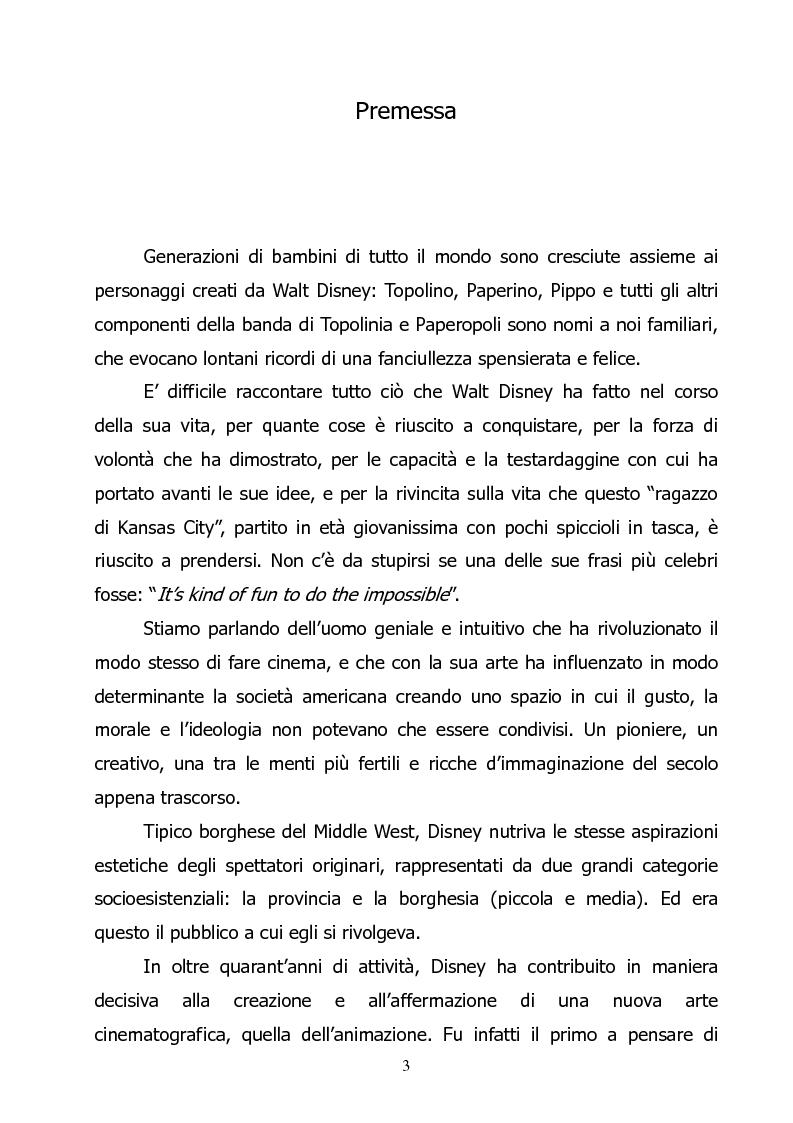 Anteprima della tesi: L'ideologia di Walt Disney, Pagina 1