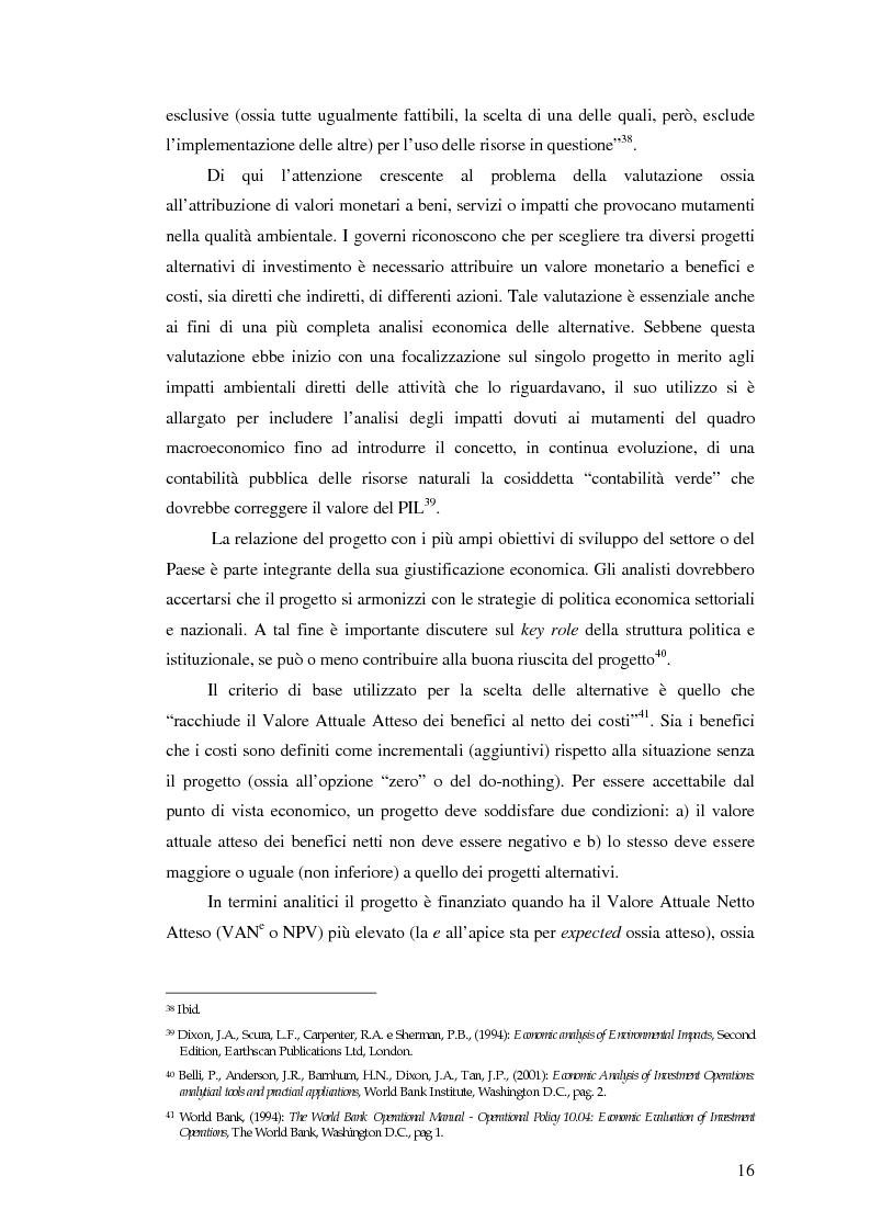Anteprima della tesi: La valutazione degli impatti ambientali e sociali nelle politiche e nei progetti della Banca Mondiale. Tematiche specifiche relative alla biodiversità, Pagina 14