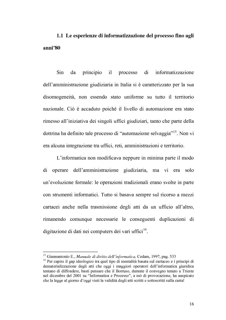 Anteprima della tesi: L'informatizzazione del processo civile, Pagina 11