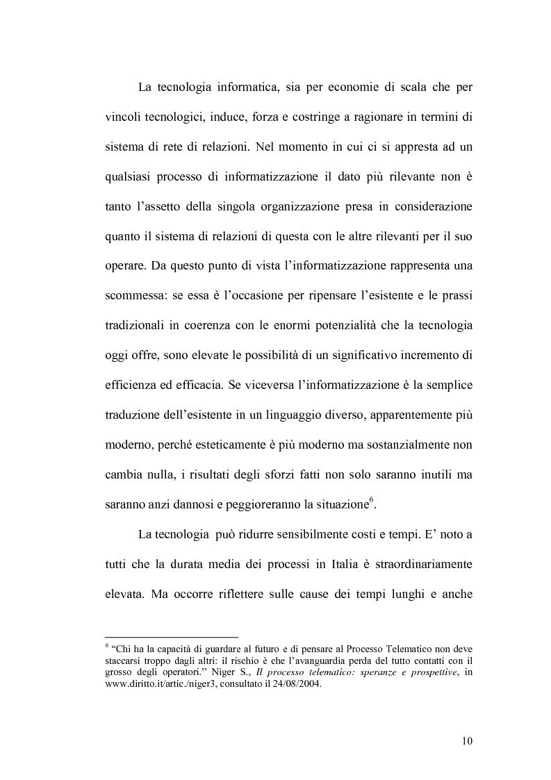 Anteprima della tesi: L'informatizzazione del processo civile, Pagina 5