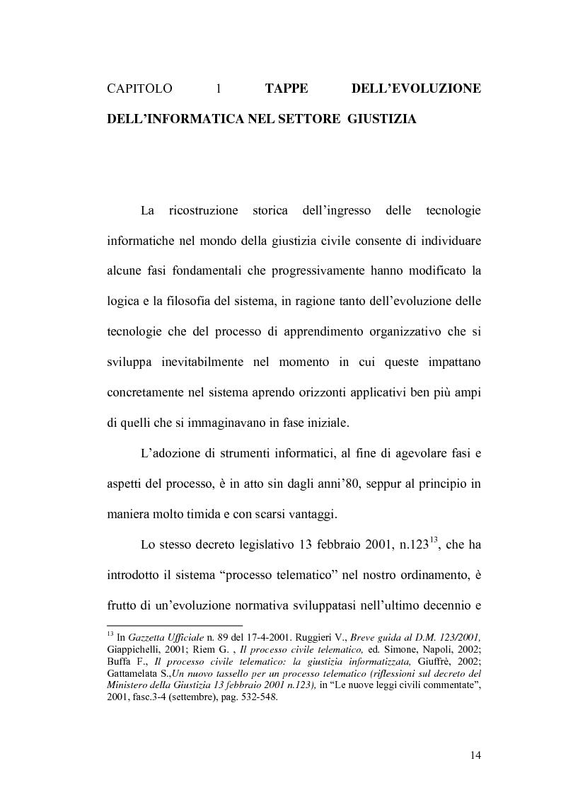 Anteprima della tesi: L'informatizzazione del processo civile, Pagina 9