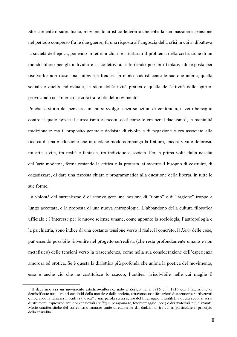 Anteprima della tesi: Il surrealismo e la visione: René Magritte e Alexandre Alexeieff, Pagina 1
