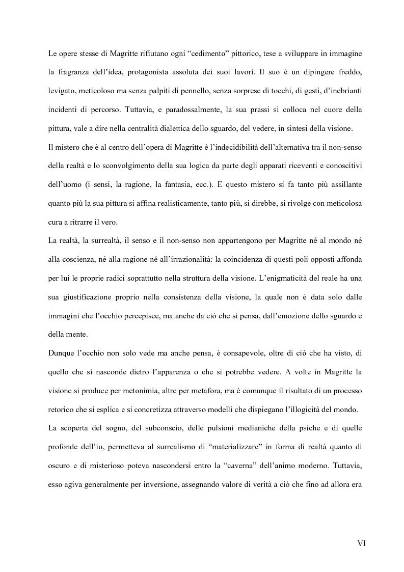 Anteprima della tesi: Il surrealismo e la visione: René Magritte e Alexandre Alexeieff, Pagina 5