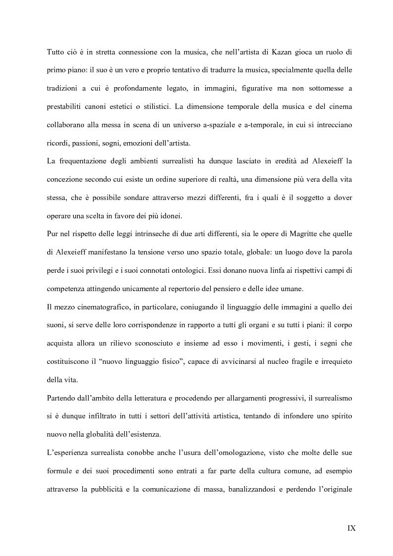 Anteprima della tesi: Il surrealismo e la visione: René Magritte e Alexandre Alexeieff, Pagina 8