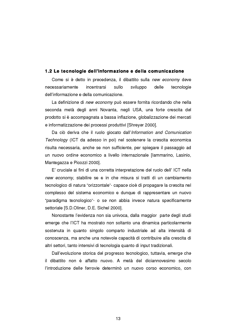Anteprima della tesi: Gli Indicatori dell'Information and Communication Technology, Pagina 11